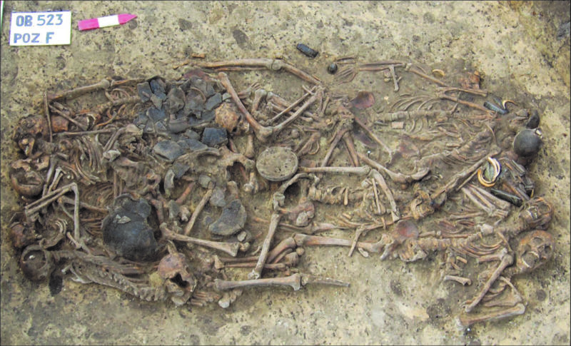 This is the Late Neolithic mass grave at Koszyce, Poland.