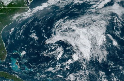 Subtropical Storm Andrea, about 475km southwest of Bermuda, isn't much to look at.