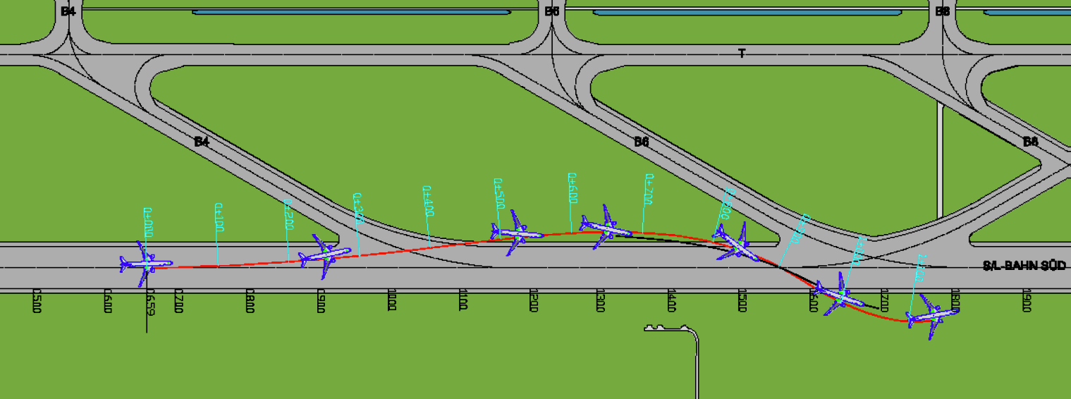 The path Singapore Airlines flight SQ327 took after landing.