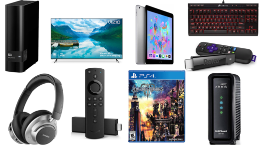 Today's deals roundup includes Amazon's Fire TV Stick 4K, 9.7-inch iPads, cable modems, desktop hard drives, and much more.