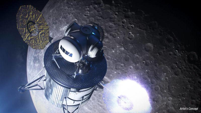 Artist's concept of a lunar lander.