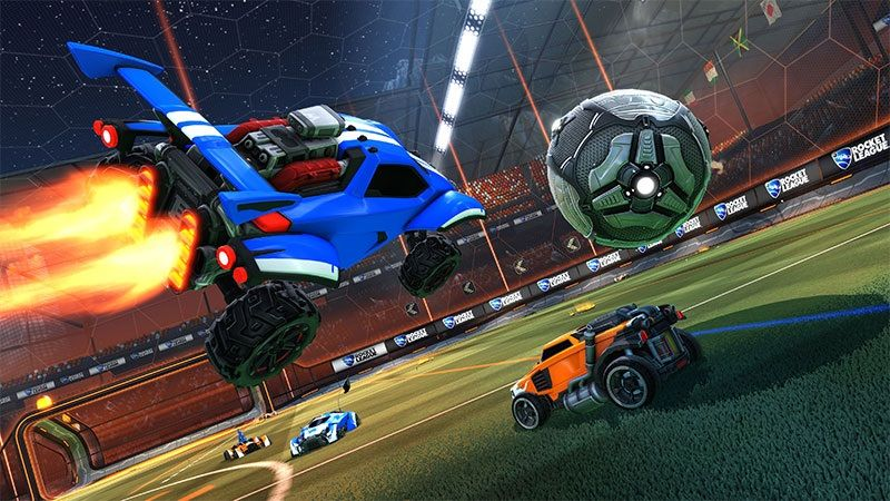 The blue car represents Psyonix leaping over Steam's... orange car? Look, it's a loose metaphor. Work with me here, people.