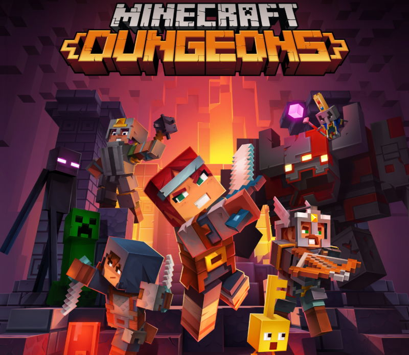Promotional image for video game Minecraft Dungeons.