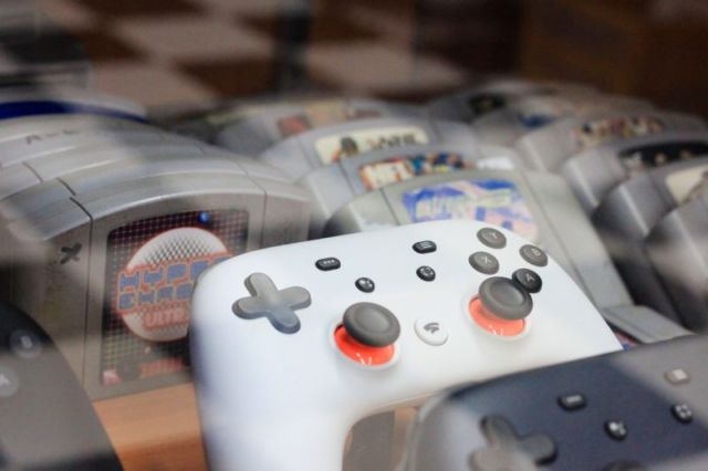 Display at industry convention devoted to video games.