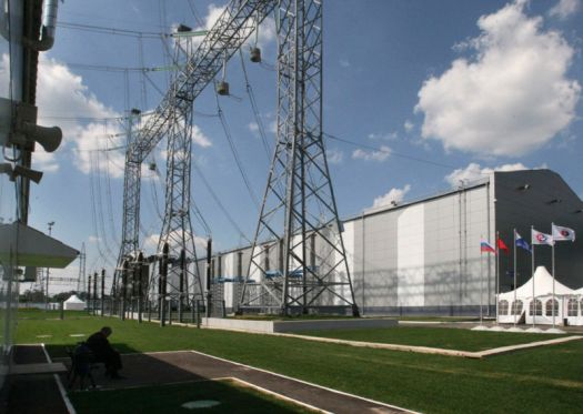 Giant outdoor power station.