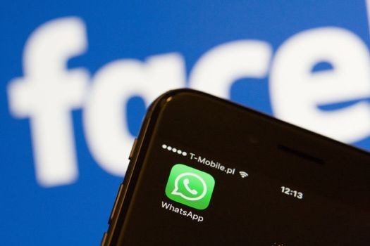 The European Commission is investigating potentially false claims that Facebook cannot merge user information from the messaging network WhatsApp, which it acquired in 2014. Warsaw, Poland, on December 21, 2016. (Photo by Jaap Arriens/NurPhoto via Getty Images)