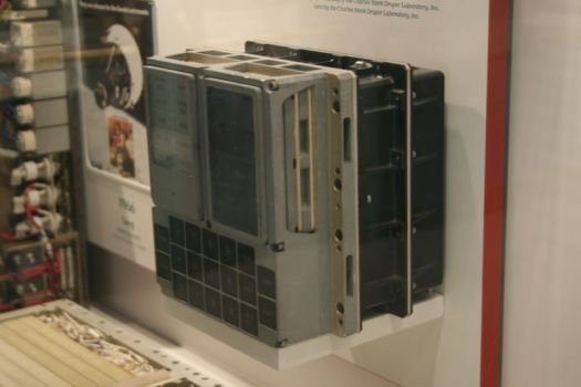 DSKY unit of the Apollo Guidance Computer in the National Air and Space Museum. Shirriff used a different unit that belongs to a private collector.