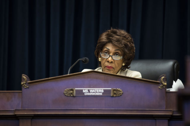 Rep. Maxine Waters (D-Calif.) chairwoman of the House Financial Services Committee, listens during a hearing on May 16, 2019.