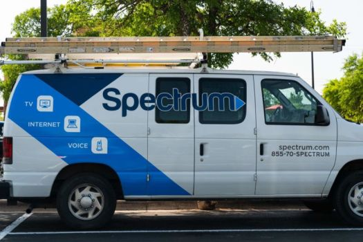 A Charter Spectrum service van for installing and maintaining cable service.