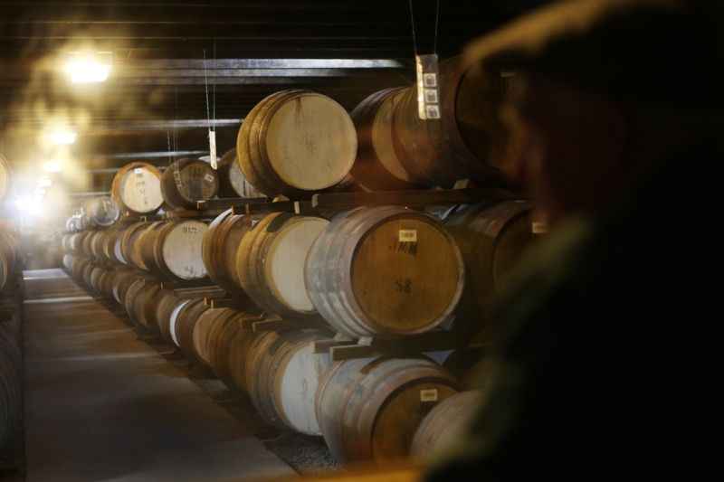 Inside a dunnage warehouse of Highland Park whisky distillery. A new portable spectrometer would help detect counterfeit whiskies.