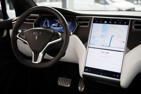 Interior of high-end luxury car.