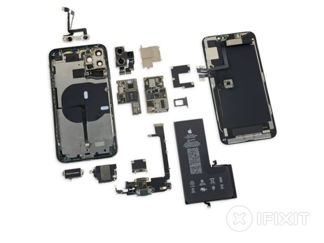 Ifixit S Iphone 11 Pro Max Teardown Finds Higher Capacity Battery 4gb Of Ram Ars Technica