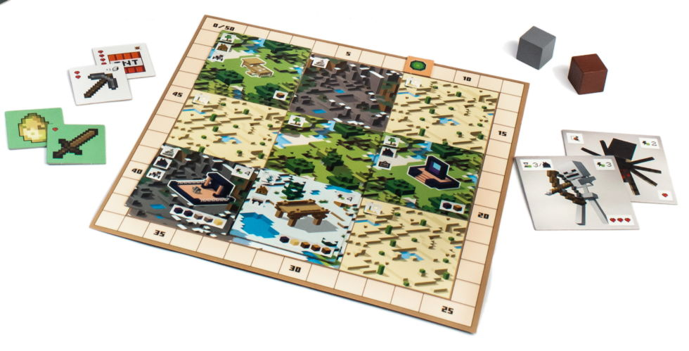 Every player gets a personal board covered in biomes by default. You'll spend resources to take buildings off the shared game board and place them on your personal biome grid, and you can replace any biome with another. For example, if you build a mansion on a snowy tile, you can put that tile on top of a different biome. To score a bunch of snow-related points, you may need to do just that.