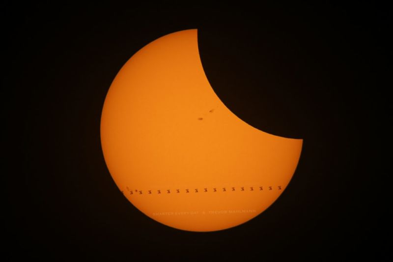 The solar eclipse and ISS transit back in August of 2017.