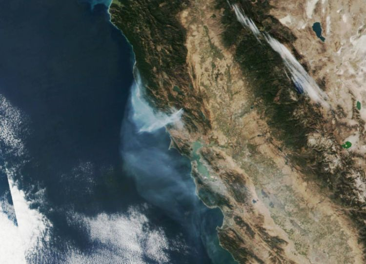 The Kincade Fire burns north of California's Bay Area on October 29.