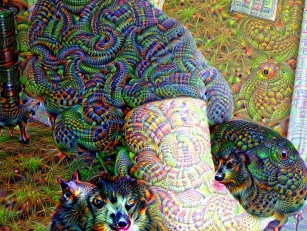 Artificial Intelligence: Machine learning is really good at turning pictures of normal things into pictures of eldritch horrors.