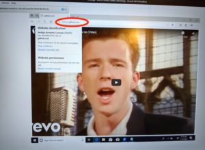 The same exploit used to Rickroll Github on Edge.