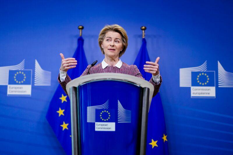 European Commission President Ursula von der Leyen launching