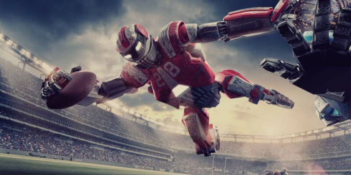 Artist's impression of AI playing sports.