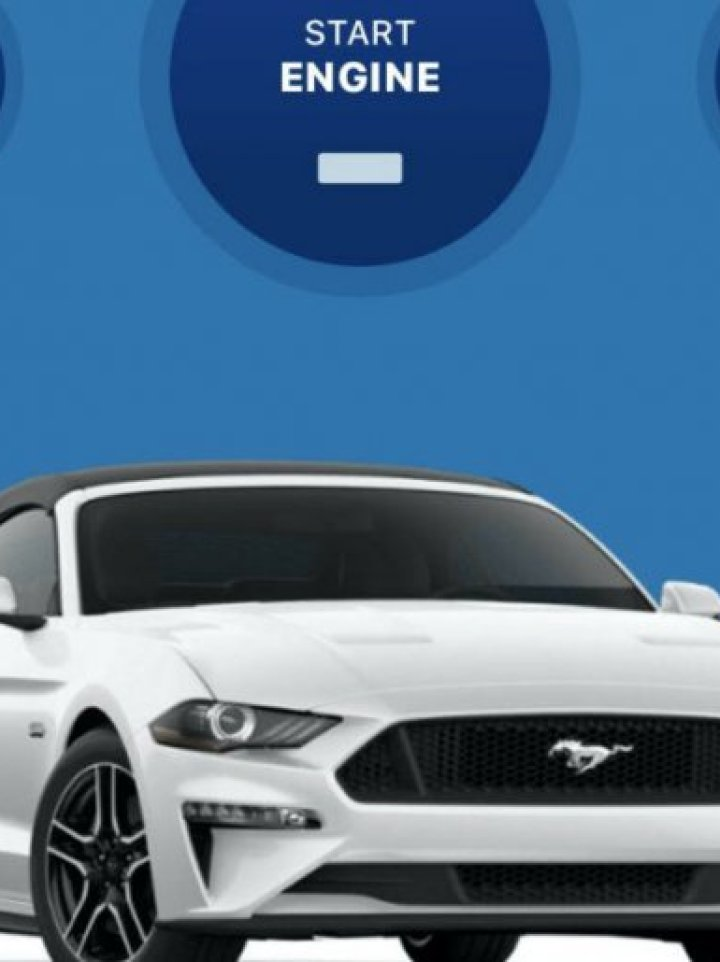 Photograph of Ford Mustang combined with image of automobile controls.