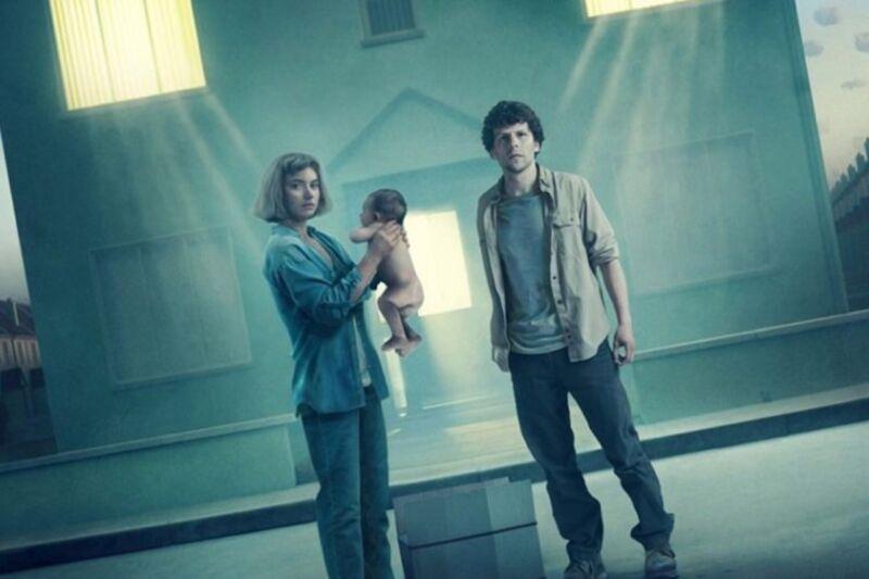 Imogen Poots and Jesse Eisenberg star in <em>Vivarium</em>.