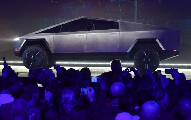 Cars: Tesla's Cybertruck at its November 2019 unveiling.