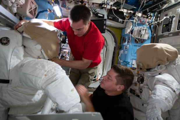 NASA astronauts Chris Cassidy (above) and Bob Behnken will be conducting several spacewalks in the coming weeks.