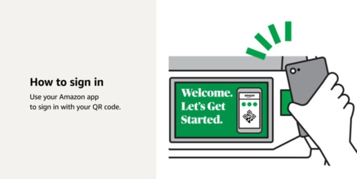 Amazon has provided an educational video explaining how to use a grocery cart when it is also the register.