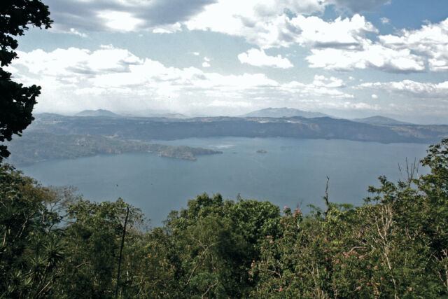 This scenic lake is the caldera of Ilopango, which last erupted in the 1800s.