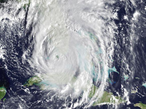 Hurricane Irma as it strikes Florida.