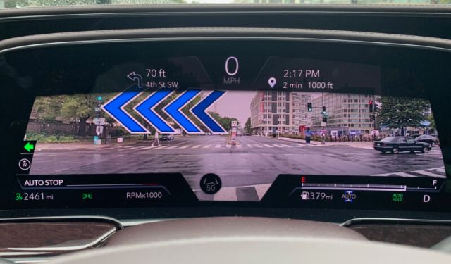 The Cadillac Escalade augmented reality display