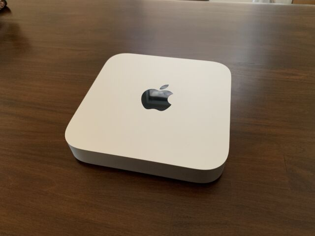 The 2020, M1-equipped Apple Mac mini.