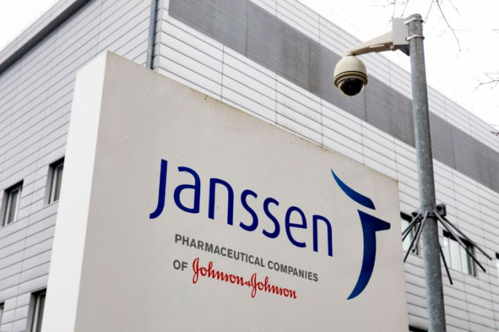 The head office of Janssen pharmaceutical company on February 5, 2021 in Leiden, the Netherlands. The American mother company of Janssen, Johnson & Johnson, has requested quick approval in the United States for the coronavirus vaccine that was developed by Janssen Vaccines in Leiden.