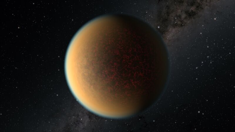 Rendering of a hazy planet.