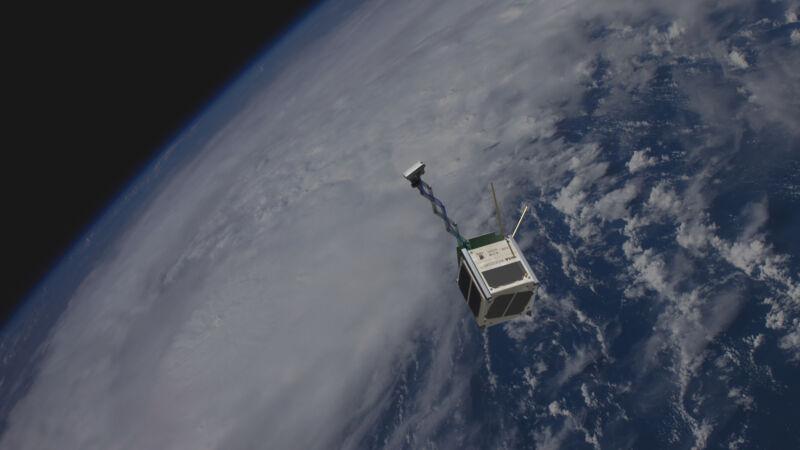 Artist's conception of the satellite in orbit.