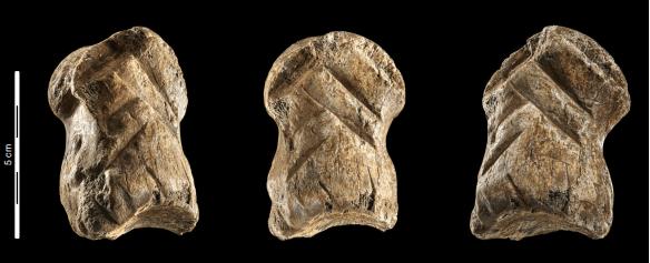 A Neanderthal carved a geometric design in bone 51,000 years ago