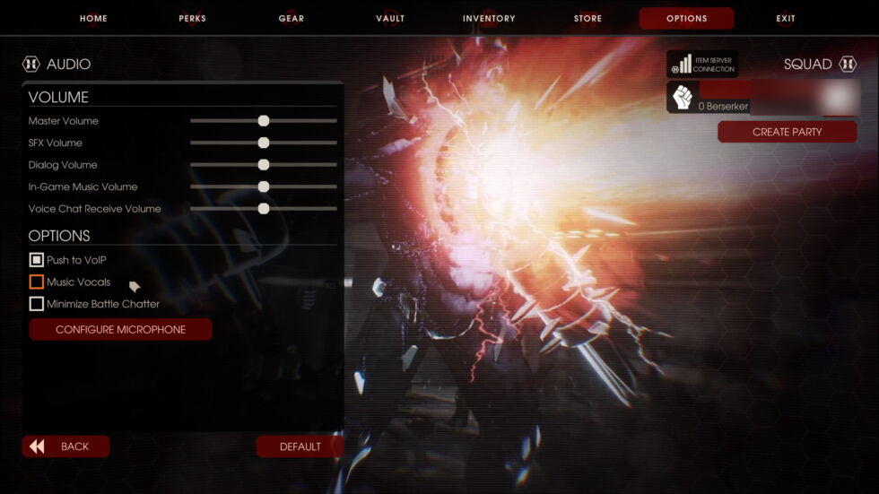 """<em>Killing Floor 2</em>'s options include a toggle to turn the lyrics to its Christian metal soundtrack on or off, with the default set to """"off."""""""