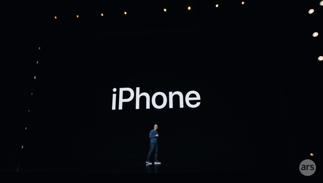 Tim Cook discusses the new iPhones at Apple's event on September 14, 2021.