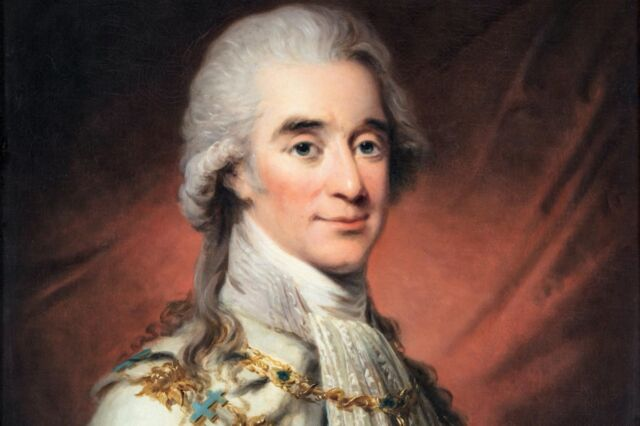 Portrait of Count Axel von Fersen, close friend and confidant of the French queen, and possibly her lover.