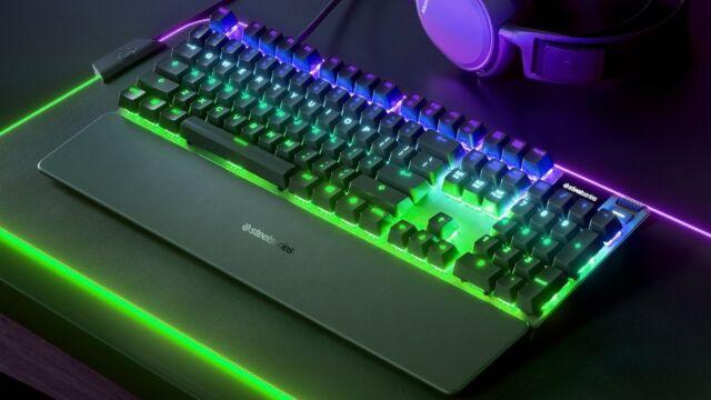 SteelSeries' OLED-clad Apex Pro gaming keyboard.