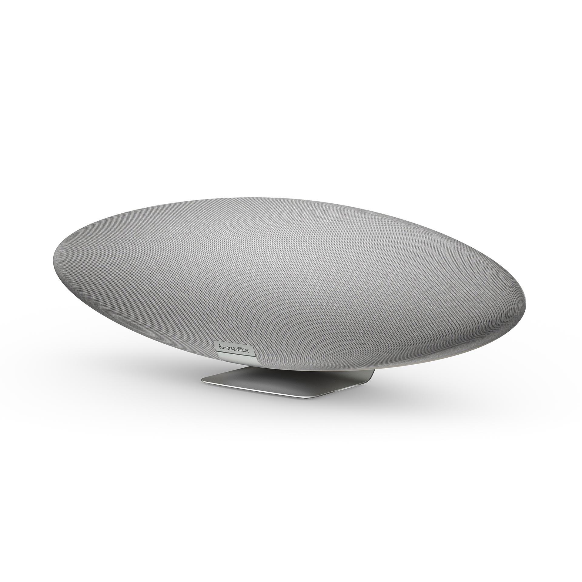 Bowers & Wilkins Zeppelin in pearl gray.