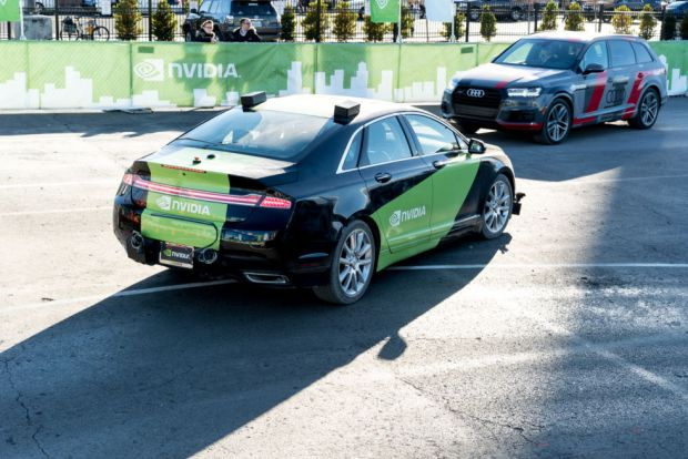 Another kind of AI was on show powering Nvidia's BB8 self-driving car.