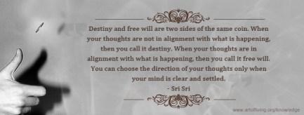 Guruji on Destiny and free will