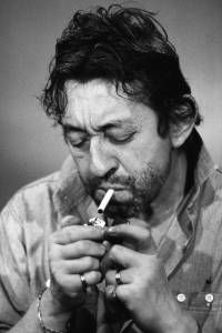 serge gainsbourg has a cigarette photographic print for sale
