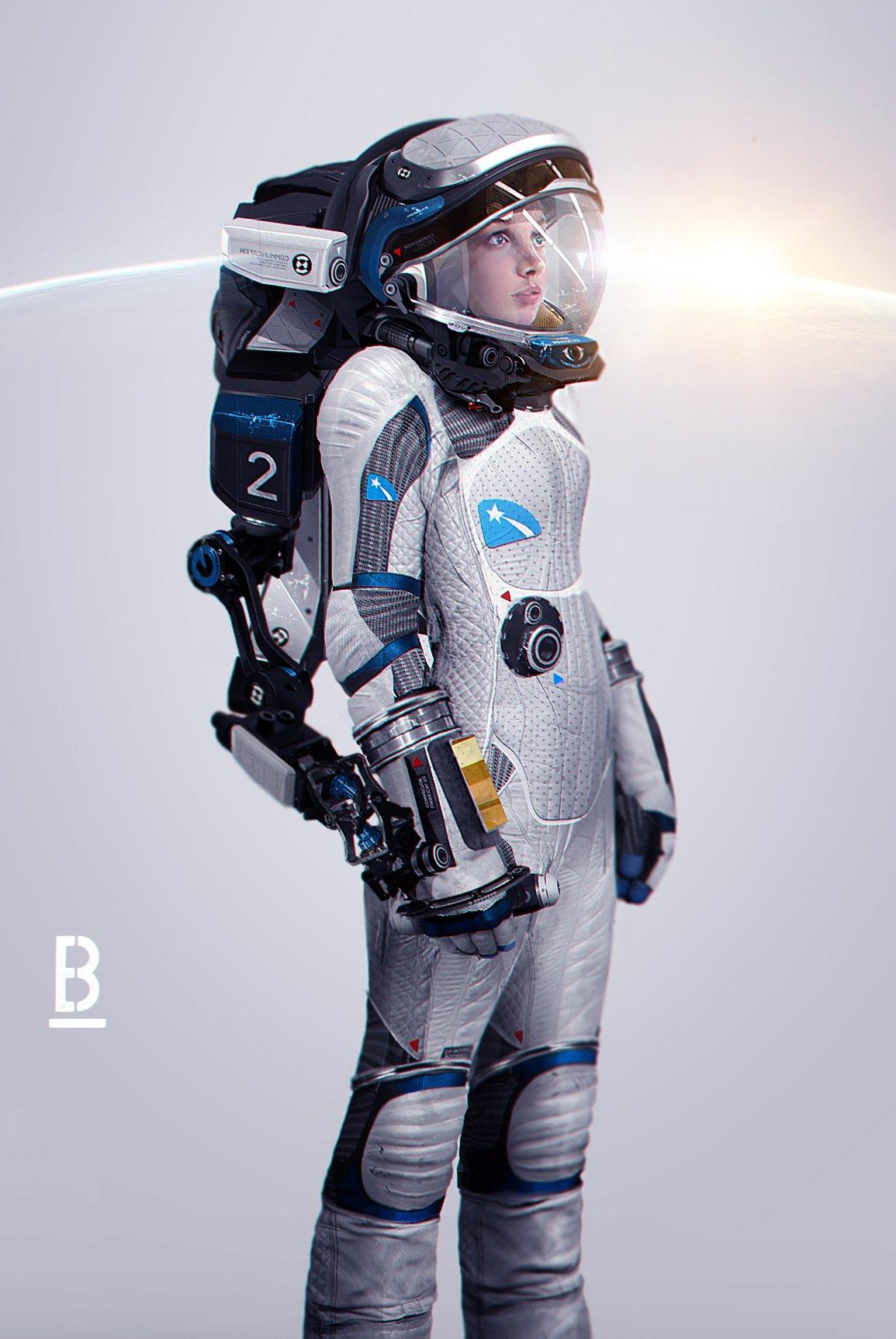 Retro Sci Fi Astronaut Female