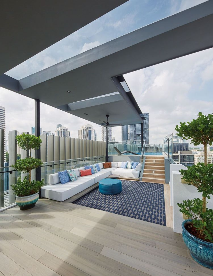 Home Tour A Penthouse With Tropical Accents And Beautiful Balconies Tatler Singapore