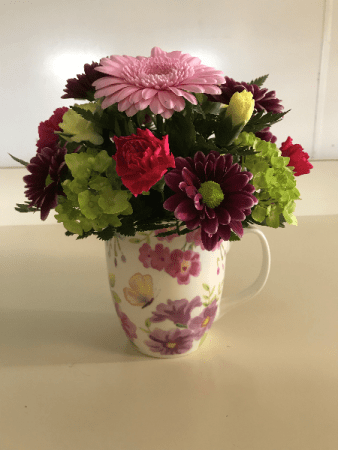 Cup of Spring Beauty Fresh Arrangement in Monticello, IN ...