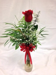 Single Rose In Vase Vase Arrangement In Detroit Lakes MN