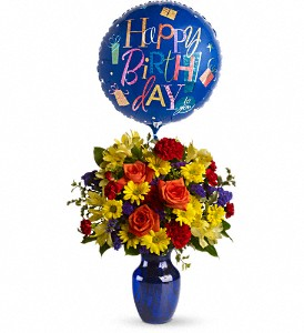 Happy Birthday Flowers Auburndale FL   The House of Flowers Teleflora s Fly Away Birthday Bouquet