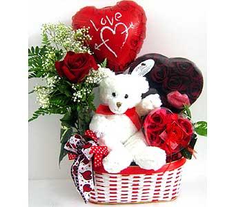 Youre So Sweet Basket Rose Bud Vase Plush Animal